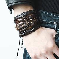 Набор кожаных браслетов Primo Cuff
