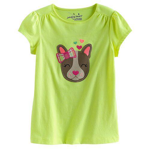 Яскрава футболка з аплікацією собачка (Розмір 2Т) Jumping Beans (США)