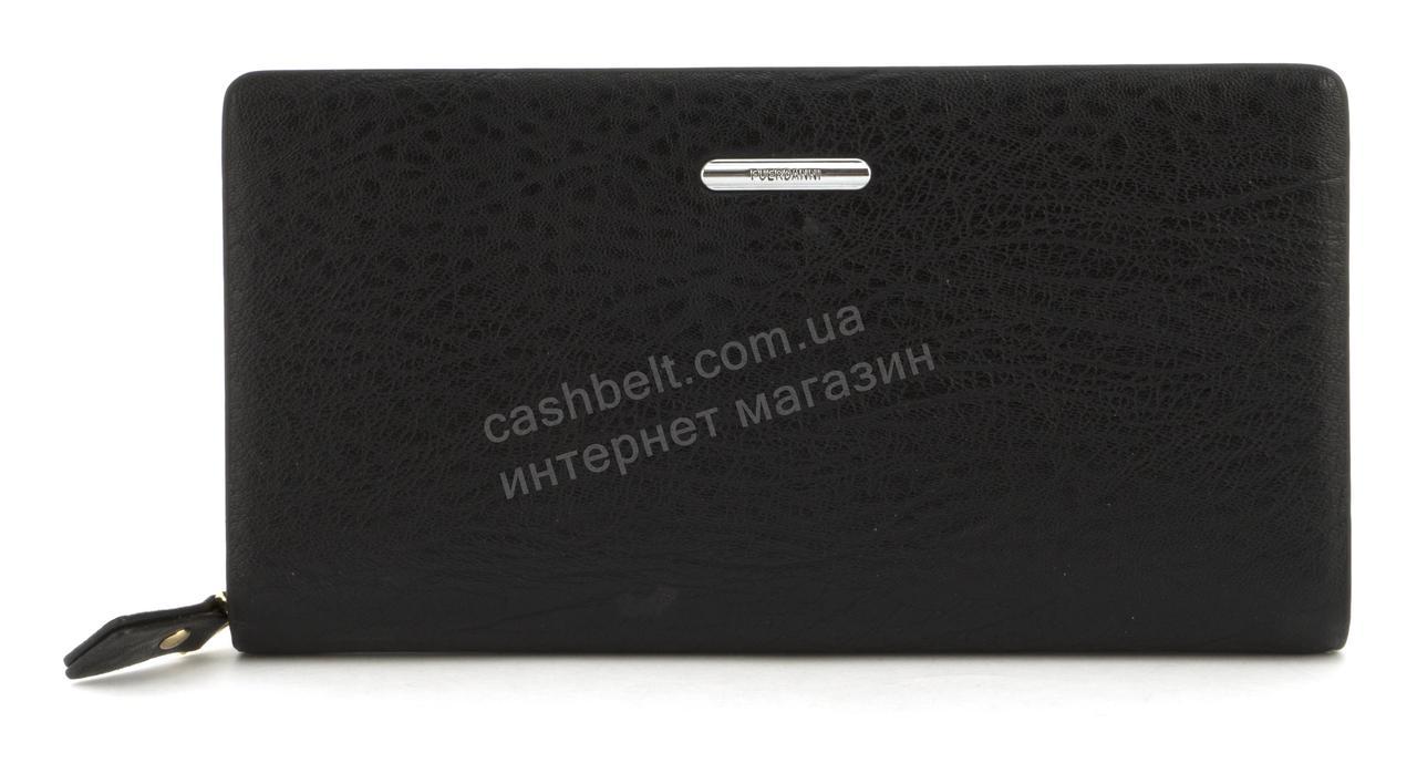 Мужской стильный классический портмоне барсетка с качественной PU кожи FUERDANNI art. 1182-1 черный