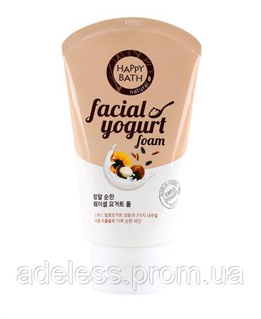Увлажняющая йогуртовая пенка для умывания Happy Bath Facial Yogurt Mild (Grain Essence) Злаки и орехи