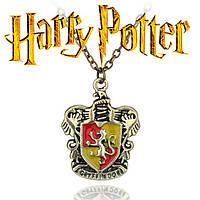 Кулон с изображением герба факультета Гриффиндор из Гарри Поттера