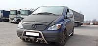 Кенгурятник Mercedes Vito W639 2010+ с надписью (Кенгурятник Мерседес Вито 639)