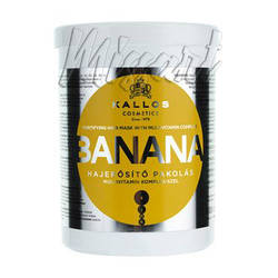 Маска для укрепления волос с экстрактом банана Kallos Cosmetics Banana Mask 1000 мл