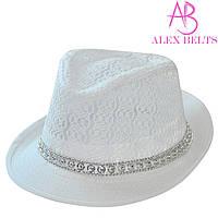 Шляпа женская (белая) гипюр р.54 см-купить оптом в Одессе