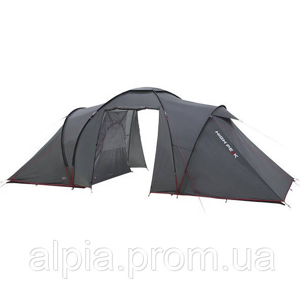 Четырехместная палатка High Peak Como 4 (Dark Grey/Red)