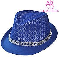 Шляпа  женская (синий) гипюр р.54 см-купить оптом в Одессе
