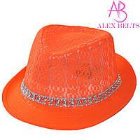 Шляпа женская (оранжевый) гипюр р.54 см-купить оптом в Одессе