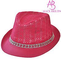 Шляпа  женская (малиновый) гипюр р.54 см-купить оптом в Одессе