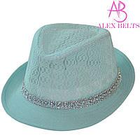 Шляпа  женская (бирюзовый) гипюр р.54 см-купить оптом в Одессе