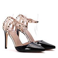 Женские лаковые туфли на каблуке очень популярные, новинка.