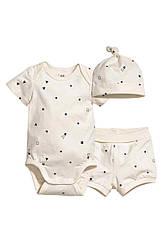 Летний комплект для мальчика H&M 0-1 мес/50 см для новорожденных