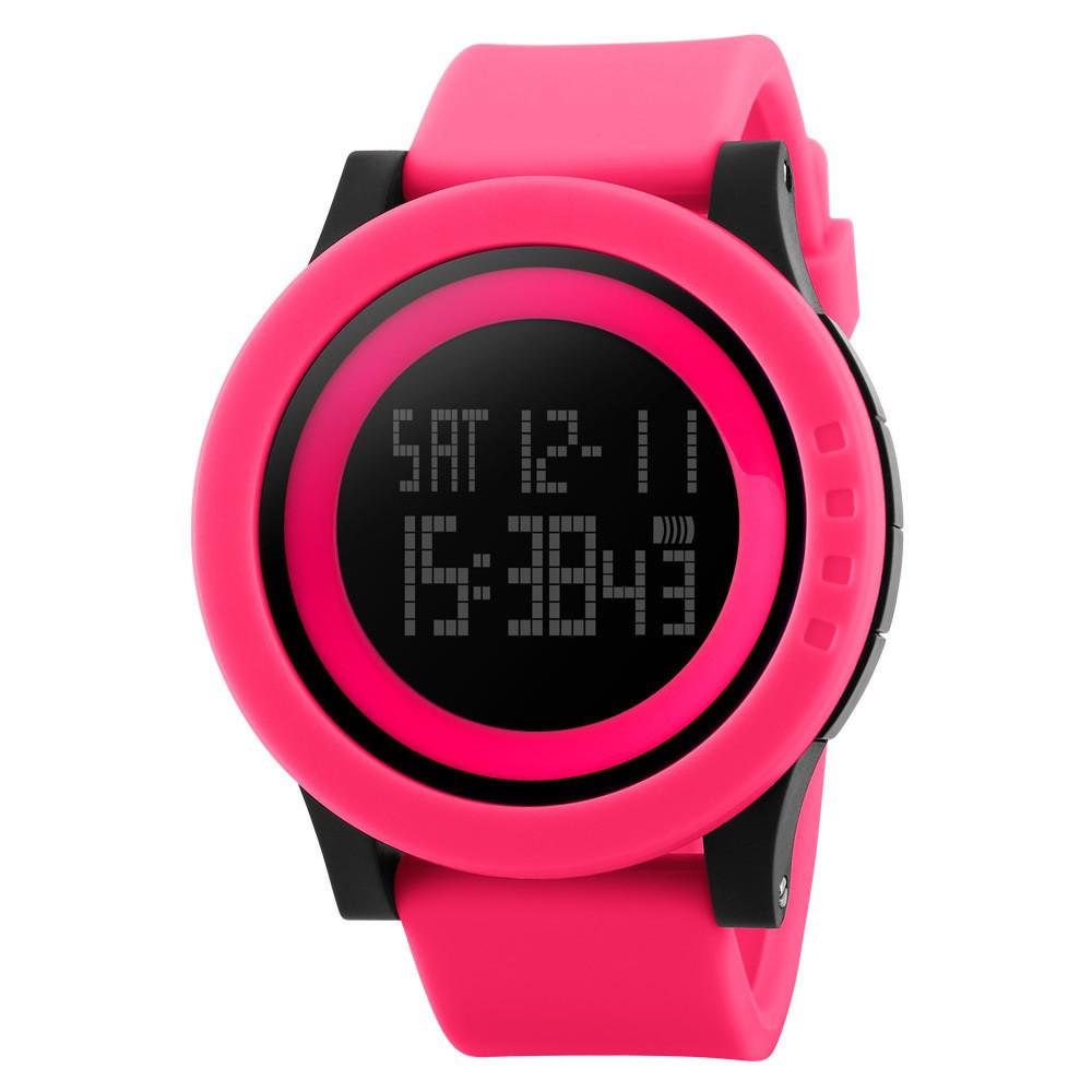 Наручные часы SKMEI 1142 электронные спортивные часы унисекс Розовый (SUN0798)