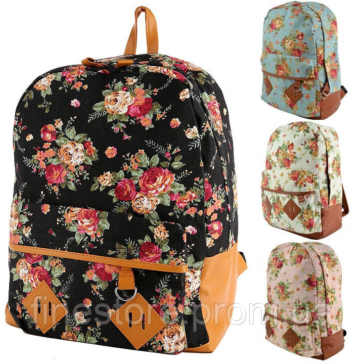 Рюкзак с розами оптом  D5473