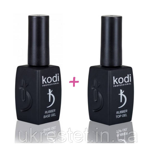 Набор Kodi Rubber Base Gel 12 мл. + Kodi Rubber Top Gel 12 мл.