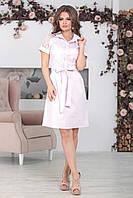 Платье с воротником Алика розовое, фото 1