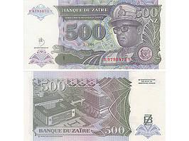 Заир 500 Zaїres 1994г. UNC