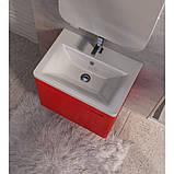 Тумба с раковиной Ювента Tivoli (Тиволи) TV-80 красный, 800х500х455 мм , фото 5