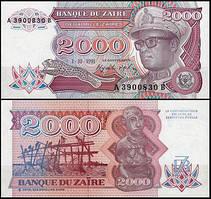 Заир / Zaїre 2000 zaїres 1991 Pick 36 UNC