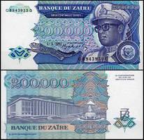 Заир / Zaїre 200000 zaїres 1992 Pick 42 UNC