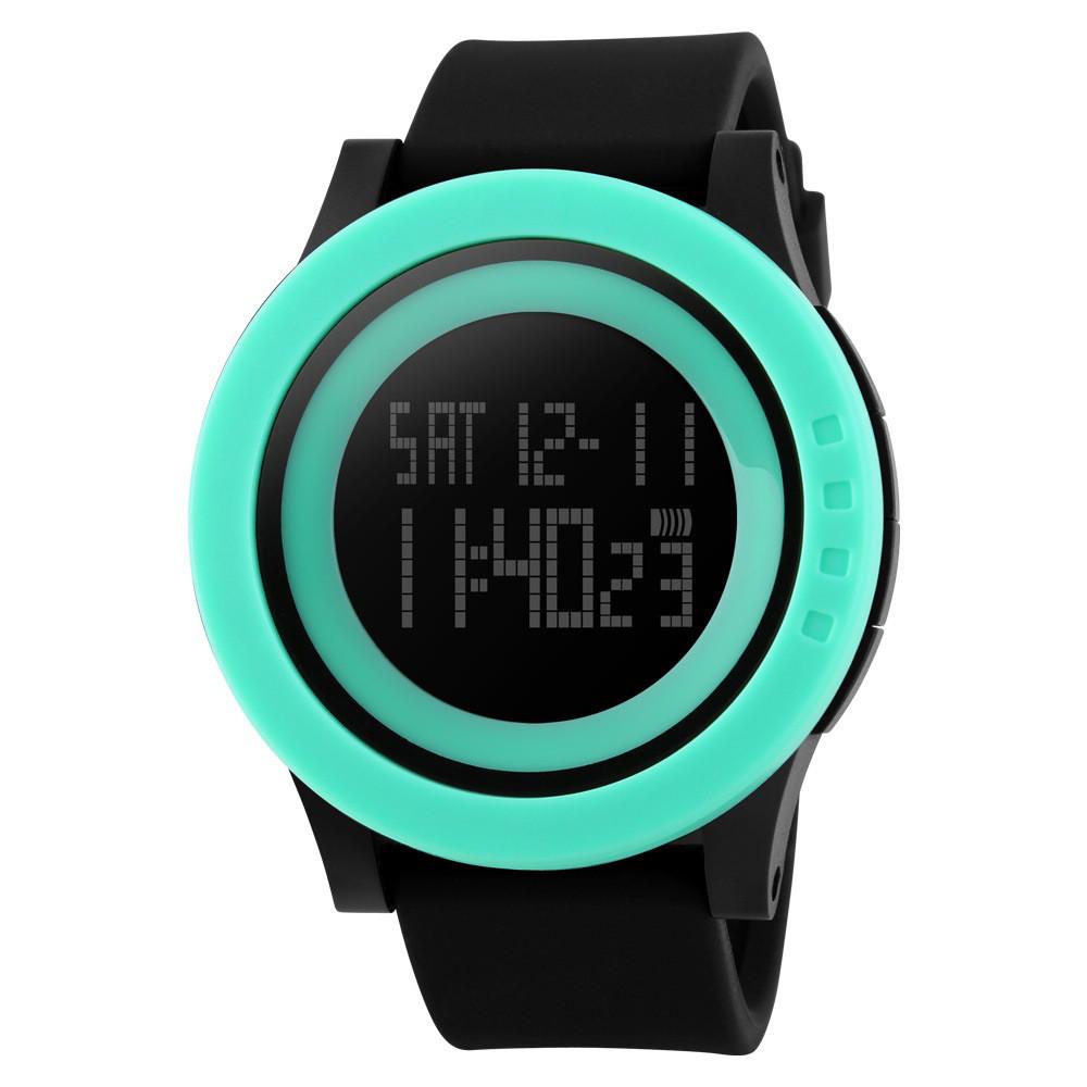 Наручные часы SKMEI 1142 электронные спортивные часы унисекс Черно-Голубой (SUN0800)