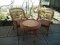 """2 кресла """"Х. №1"""" и круглый столик """"Гриб с плитой"""", фото 1"""