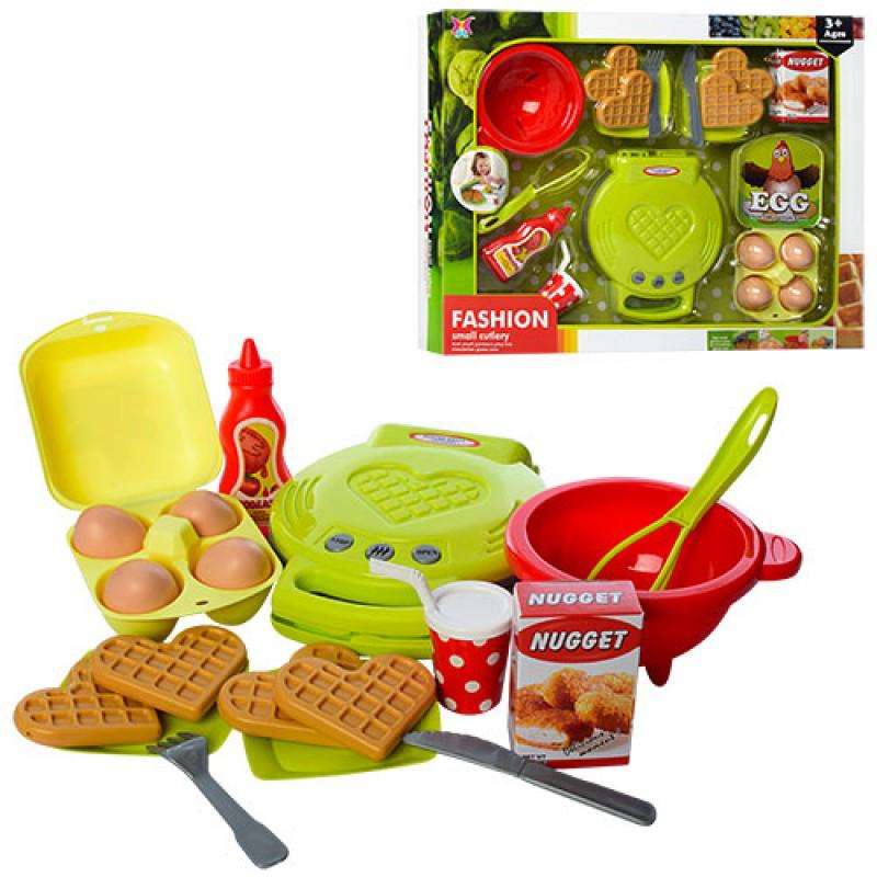 81c987fa2e717 Игровой набор бытовой техники Вафельница, аксессуары, продукты, посуда,  XJ328P-3 -