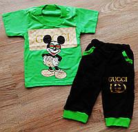 Детский летний костюм футболка и бриджи для мальчика Микки Маус