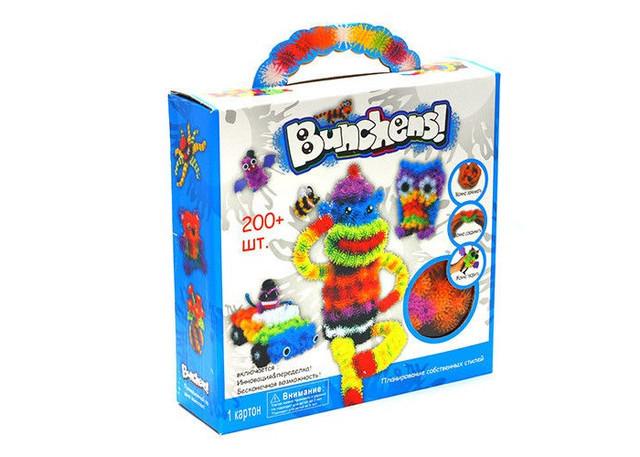 Іграшка Bunchems (Банчемс) 200 шт. м'який пухнастий кульку реп'ях конструктор-липучка іграшка