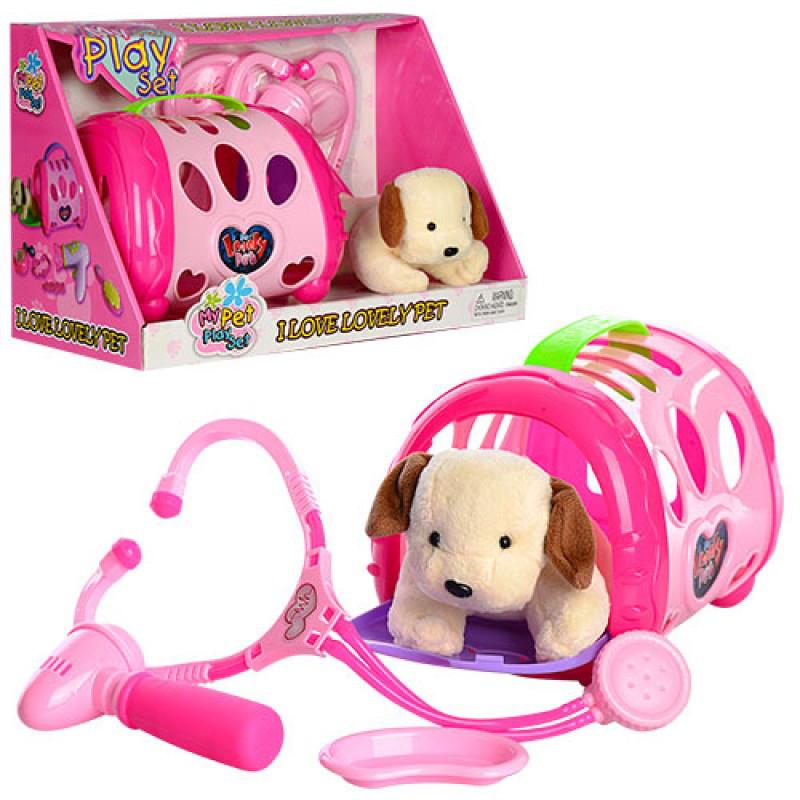 Игровой набор с собачкой - Доктор Ветеринар, в чемодане, 633