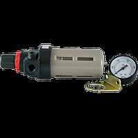 """Блок подготовки воздуха BFR-2000 1/4"""" (фильтр влагоотделитель с редуктором, манометр 1MPa, кронштейн)"""