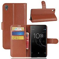 Чехол IETP для Sony Xperia XA1 Plus / G3412 / G3416 / G3421 / G3423  книжка кожа PU коричневый