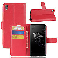 Чехол IETP для Sony Xperia XA1 Plus / G3412 / G3416 / G3421 / G3423  книжка кожа PU красный