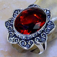 Кольцо - гранат в серебре. Красивое кольцо с гранатом., фото 1
