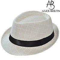 Шляпа соломенная с черной лентой унисекс р.54-60 см-купить оптом в Одессе