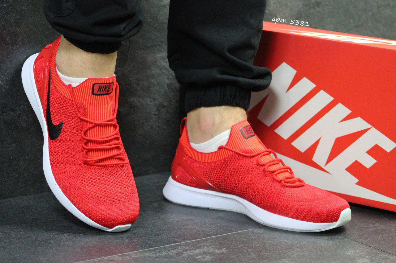 Мужские кроссовки Nike,летние,сетка,красные