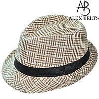 Шляпа соломенная с черной лентой унисекс р.56-60 см-купить оптом в Одессе