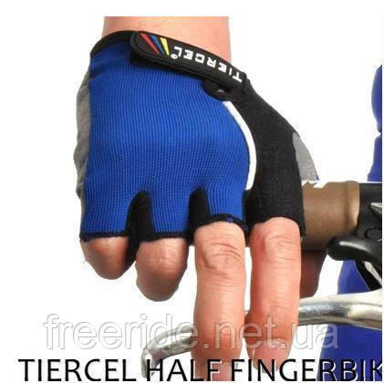 Вело перчатки беспалые Tiercel синие (XXL)