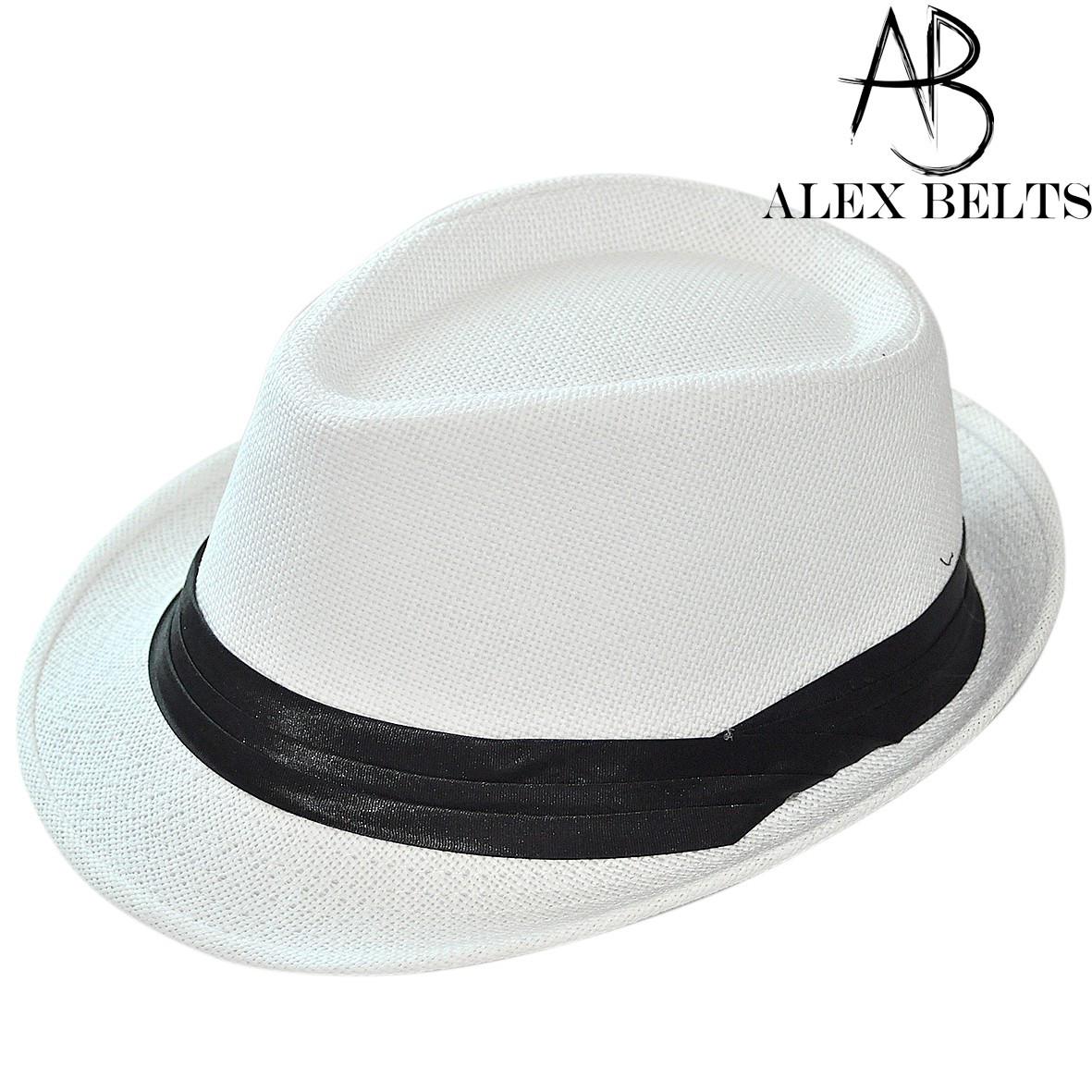 Шляпа соломенная (белая) с черной лентой унисекс р.57-59 см-купить оптом в Одессе