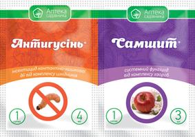 Инсекто-фунгицид Антигусень 4 мл + Самшит 3 мл, Ukravit  (Укравит), Украина