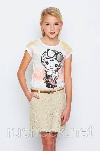 Нарядная футболка для девочки рост 98,  122,  Венгрия Glo-story 1188