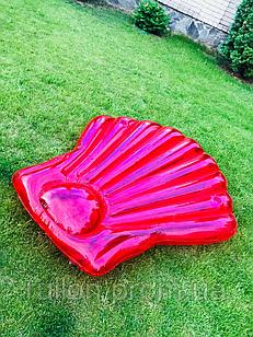 Надувной матрас-плотик розовая ракушка жемчужина