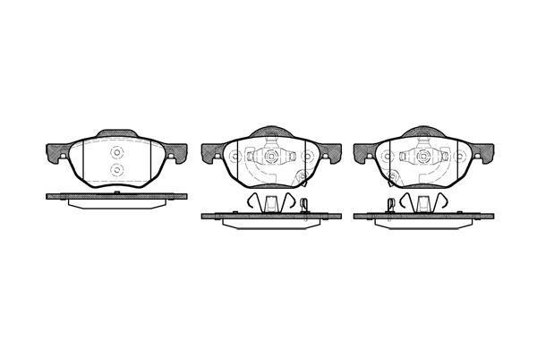 LPR 05p1211 гальмівні колодки (передні) HONDA ACCORD VII
