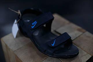 Кожаные мужские сандалии Nike Синие, фото 2