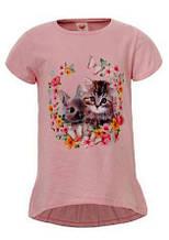 Нежная футболка с принтом для девочек р-ры 98, 116, GLO-STORY 3923