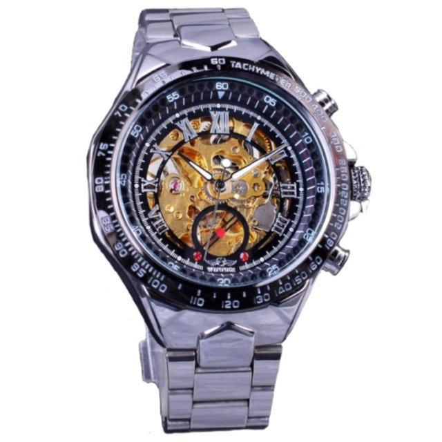 Механические мужские часы WINNER ACTION SILVER
