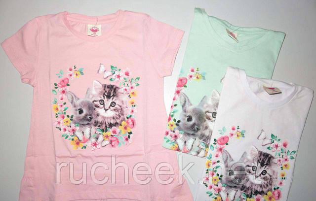 Красивые детские футболки для девочек 3 - 5лет