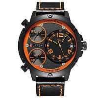 Наручные часы CURREN 8262 мужские кварцевые водонепроницаемые часы PU кожаным ремешком Черный (SUN0804)