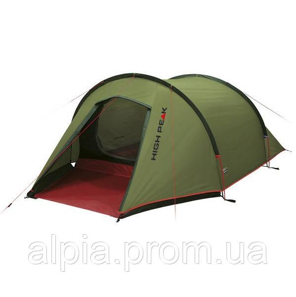 Трехместная палатка High Peak Kite 3 (Pesto/Red)