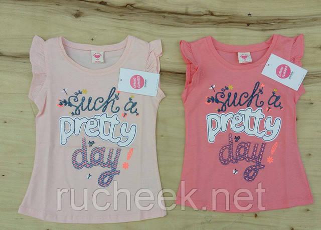 Красивые детские футболки для девочек 3 - 7лет