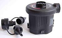 Электрический насос для надувания Intex 68638, 380 л/мин, на батарейках, 3 насадки, фото 1
